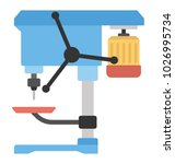 pillar drill machine  drill... | Shutterstock .eps vector #1026995734