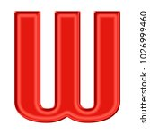 silky red uppercase or capital...   Shutterstock . vector #1026999460