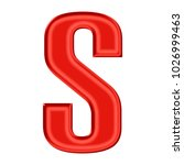 silky red uppercase or capital...   Shutterstock . vector #1026999463