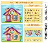 find the difference the two... | Shutterstock .eps vector #1027002574