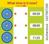 riddle the children clock. what ... | Shutterstock .eps vector #1027007200