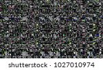 glitch background. computer... | Shutterstock . vector #1027010974