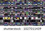 glitch background. computer... | Shutterstock . vector #1027011439