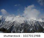alps mountain range in winter | Shutterstock . vector #1027011988