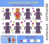 find the correct shadow robots. ... | Shutterstock .eps vector #1027016188