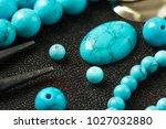 natural stones  tools  beads ... | Shutterstock . vector #1027032880
