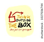 think outside the box comic... | Shutterstock .eps vector #1027036744