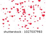 red and pink heart. valentine's ... | Shutterstock . vector #1027037983
