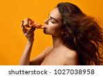 young beautiful sexy woman eat... | Shutterstock . vector #1027038958