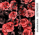 watercolor seamless pattern... | Shutterstock . vector #1027040539