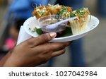 indian street food savory snack ... | Shutterstock . vector #1027042984