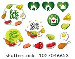 keto diet logo and icon | Shutterstock .eps vector #1027046653