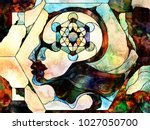 stained glass forever series.... | Shutterstock . vector #1027050700