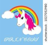 vector illustration of unicorn... | Shutterstock .eps vector #1027052980