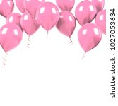 light pink baloons on the... | Shutterstock . vector #1027053634