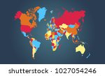 color world map vector | Shutterstock .eps vector #1027054246