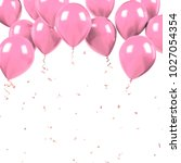 light pink baloons on the... | Shutterstock . vector #1027054354