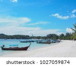 summer beach background. small... | Shutterstock . vector #1027059874