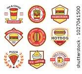 fast food restaurant logo... | Shutterstock .eps vector #1027061500