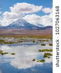 bolivia  andes region with snow ...   Shutterstock . vector #1027063168