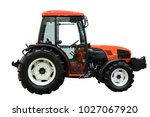 red tractor. side view.... | Shutterstock . vector #1027067920
