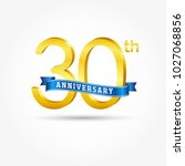 30th golden anniversary logo... | Shutterstock .eps vector #1027068856