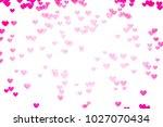 valentine day background red... | Shutterstock . vector #1027070434