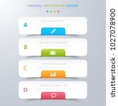 infographic elements with... | Shutterstock .eps vector #1027078900