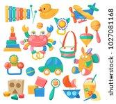 kids toys vector cartoon games... | Shutterstock .eps vector #1027081168