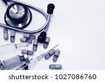 stethoscope  3 ml plastic...   Shutterstock . vector #1027086760