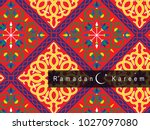 ramadan kareem background | Shutterstock .eps vector #1027097080