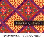 ramadan kareem background | Shutterstock .eps vector #1027097080