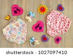clothes for children from soft... | Shutterstock . vector #1027097410
