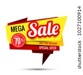sale text tag banner for... | Shutterstock .eps vector #1027100914