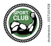 sport club logo with athletic... | Shutterstock .eps vector #1027101928
