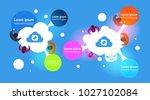 cloud computing infographic...   Shutterstock .eps vector #1027102084
