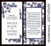 vintage delicate invitation... | Shutterstock .eps vector #1027102459