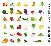 vector flat design vegetables... | Shutterstock .eps vector #1027104916