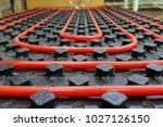 the floor heating system | Shutterstock . vector #1027126150