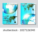 abstract low polygon background ... | Shutterstock .eps vector #1027126540