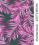 exotic tropical vrctor... | Shutterstock .eps vector #1027138144