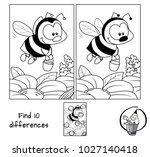 funny little bee with a bucket... | Shutterstock .eps vector #1027140418