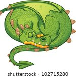 Cute Cartoon Sleeping Dragon....