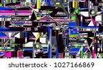glitch background. computer... | Shutterstock . vector #1027166869