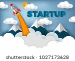 space shuttle launch to the sky ... | Shutterstock .eps vector #1027173628
