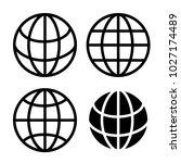 globe icon vector  | Shutterstock .eps vector #1027174489