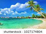beautiful view of see and tree | Shutterstock . vector #1027174804