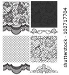 gothic lace vector seamless... | Shutterstock .eps vector #102717704