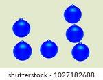 colored christmas balls pattern.... | Shutterstock .eps vector #1027182688