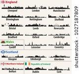vector city skylines of british ... | Shutterstock .eps vector #1027187809